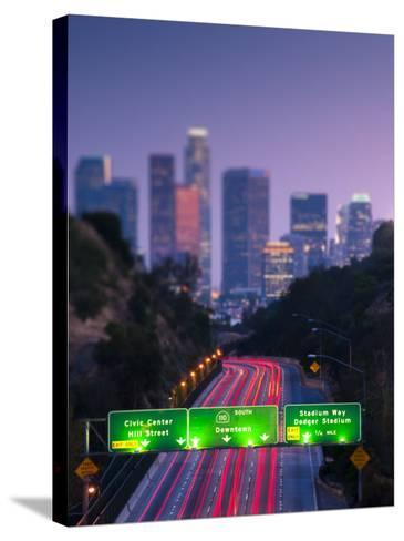 California, Los Angeles, Route 110, USA-Alan Copson-Stretched Canvas Print