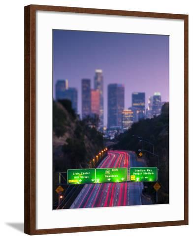 California, Los Angeles, Route 110, USA-Alan Copson-Framed Art Print