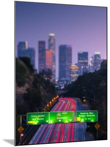 California, Los Angeles, Route 110, USA-Alan Copson-Mounted Photographic Print