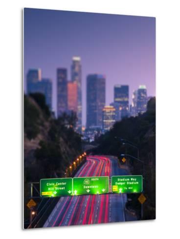 California, Los Angeles, Route 110, USA-Alan Copson-Metal Print