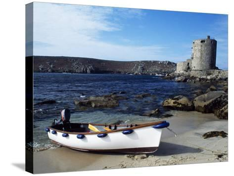 View of Cromwell's Castle, Which Guards the Northern Approaches to New Grimsby Harbour-Fergus Kennedy-Stretched Canvas Print