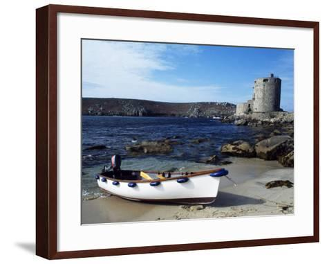 View of Cromwell's Castle, Which Guards the Northern Approaches to New Grimsby Harbour-Fergus Kennedy-Framed Art Print