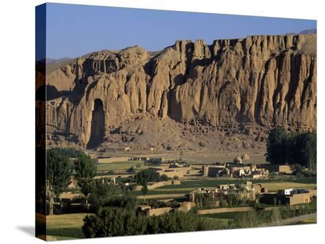Bamiyan Valley, Showing the Large Buddha, Circa 5th Century, Afghanistan-Antonia Tozer-Stretched Canvas Print