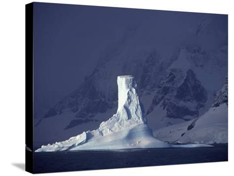 Penola Strait, Pleneau Island, Columnar Iceberg in Evening Light, Antarctica-Allan White-Stretched Canvas Print