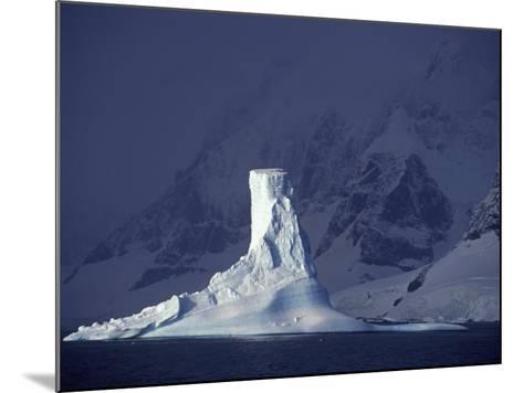 Penola Strait, Pleneau Island, Columnar Iceberg in Evening Light, Antarctica-Allan White-Mounted Photographic Print