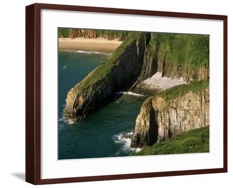Pembrokeshire, Skrinkle Haven on the South Coast of Pembrokeshire, Wales-Paul Harris-Framed Art Print