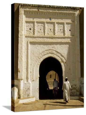 Village Gateway on the 'Circuit Touristique' South of Rissani-Amar Grover-Stretched Canvas Print