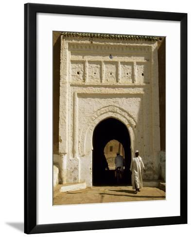 Village Gateway on the 'Circuit Touristique' South of Rissani-Amar Grover-Framed Art Print