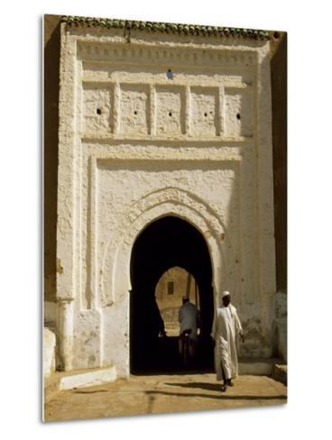 Village Gateway on the 'Circuit Touristique' South of Rissani-Amar Grover-Metal Print