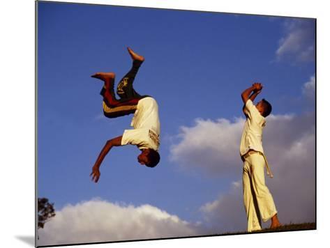 Two Boys Practice Capoeira, the Brazilian Martial Art-Camilla Watson-Mounted Photographic Print
