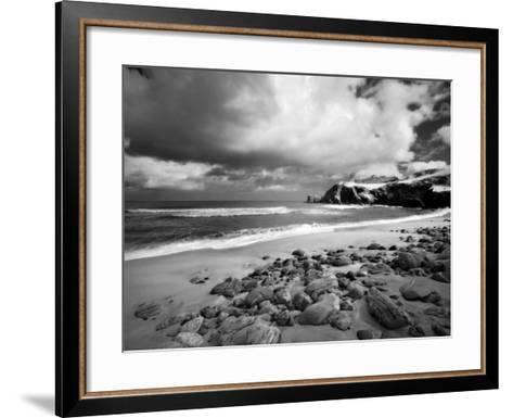Infrared Image of Dalmore Beach, Isle of Lewis, Hebrides, Scotland, UK-Nadia Isakova-Framed Art Print