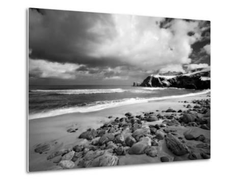 Infrared Image of Dalmore Beach, Isle of Lewis, Hebrides, Scotland, UK-Nadia Isakova-Metal Print