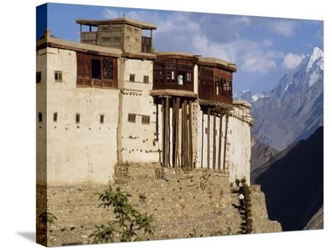 Baltit Fort, One of the Great Sights of the Karakoram Highway-Amar Grover-Stretched Canvas Print