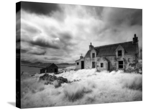 Infrared Image of a Derelict Farmhouse Near Arivruach, Isle of Lewis, Hebrides, Scotland, UK-Nadia Isakova-Stretched Canvas Print