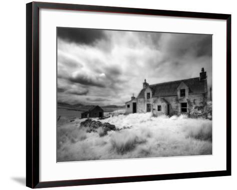 Infrared Image of a Derelict Farmhouse Near Arivruach, Isle of Lewis, Hebrides, Scotland, UK-Nadia Isakova-Framed Art Print