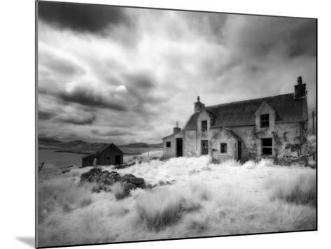 Infrared Image of a Derelict Farmhouse Near Arivruach, Isle of Lewis, Hebrides, Scotland, UK-Nadia Isakova-Mounted Photographic Print