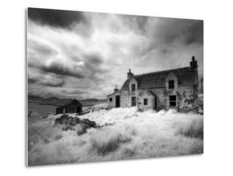 Infrared Image of a Derelict Farmhouse Near Arivruach, Isle of Lewis, Hebrides, Scotland, UK-Nadia Isakova-Metal Print