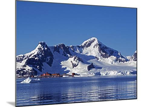 Paradise Harbour, the Chilean Base in Paradise Harbour on Antarctic Peninsula, Antarctica-Mark Hannaford-Mounted Photographic Print