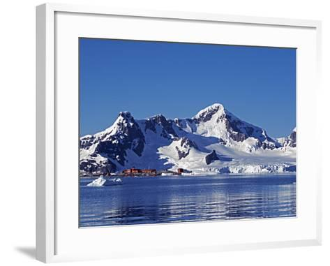 Paradise Harbour, the Chilean Base in Paradise Harbour on Antarctic Peninsula, Antarctica-Mark Hannaford-Framed Art Print