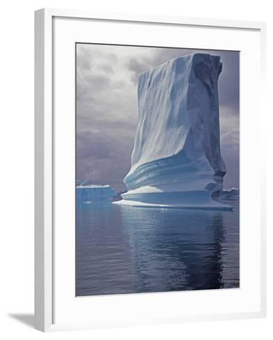 Grandidier Channel, Pleneau Island, Grounded Iceberg, Antarctica-Allan White-Framed Art Print