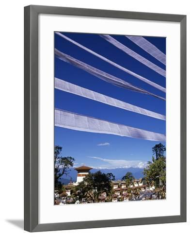 Dochu La, the Pass Is a Mystical Place with Views North to the Himalayas, Bhutan-Paul Harris-Framed Art Print