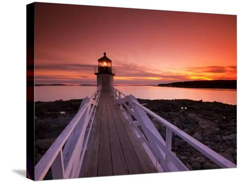 Maine, Port Clyde, Marshall Point Lighthouse, USA-Alan Copson-Stretched Canvas Print