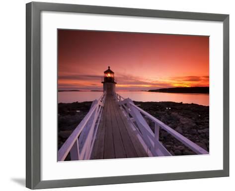 Maine, Port Clyde, Marshall Point Lighthouse, USA-Alan Copson-Framed Art Print