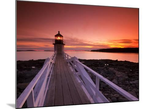 Maine, Port Clyde, Marshall Point Lighthouse, USA-Alan Copson-Mounted Photographic Print