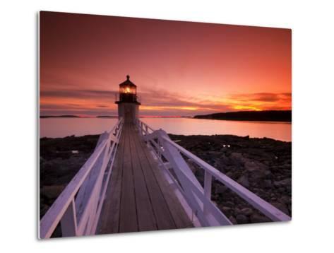 Maine, Port Clyde, Marshall Point Lighthouse, USA-Alan Copson-Metal Print