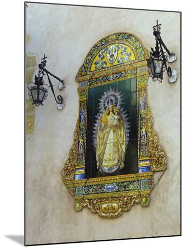 Tiled Picture of Mary and Jesus on a Street in Seville, Spain-John Warburton-lee-Mounted Photographic Print