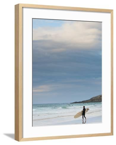 England, Cornwall, Newquay, Fistral Beach, Surfers, UK-Alan Copson-Framed Art Print