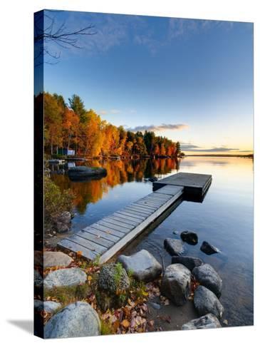 Maine, Baxter State Park, Lake Millinocket, USA-Alan Copson-Stretched Canvas Print