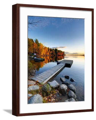 Maine, Baxter State Park, Lake Millinocket, USA-Alan Copson-Framed Art Print