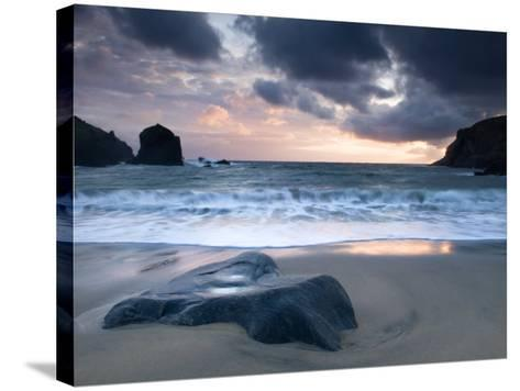 Sunset on Dalbeg Beach, Isle of Lewis, Hebrides, Scotland, UK-Nadia Isakova-Stretched Canvas Print
