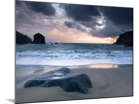 Sunset on Dalbeg Beach, Isle of Lewis, Hebrides, Scotland, UK-Nadia Isakova-Mounted Photographic Print