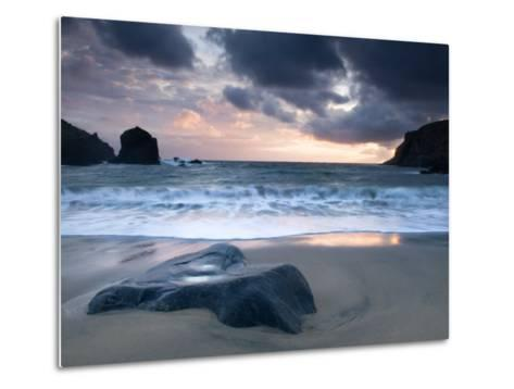 Sunset on Dalbeg Beach, Isle of Lewis, Hebrides, Scotland, UK-Nadia Isakova-Metal Print