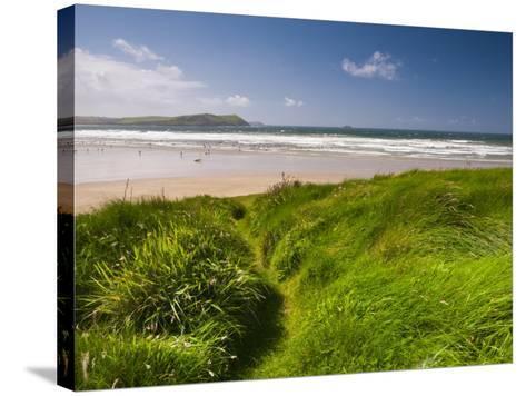 England, Cornwall, Polzeath Beach, UK-Alan Copson-Stretched Canvas Print