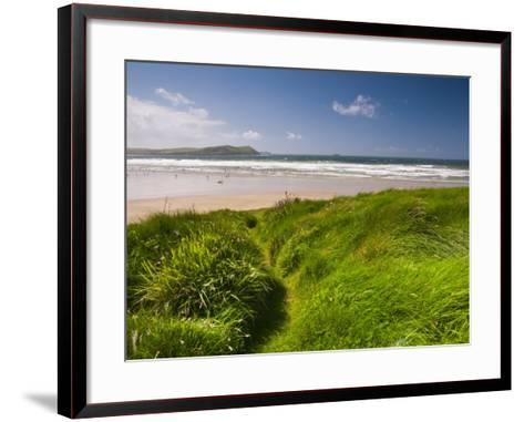 England, Cornwall, Polzeath Beach, UK-Alan Copson-Framed Art Print