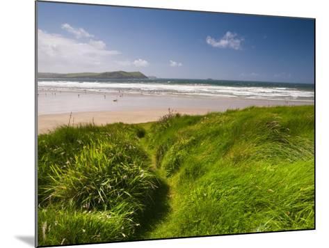 England, Cornwall, Polzeath Beach, UK-Alan Copson-Mounted Photographic Print