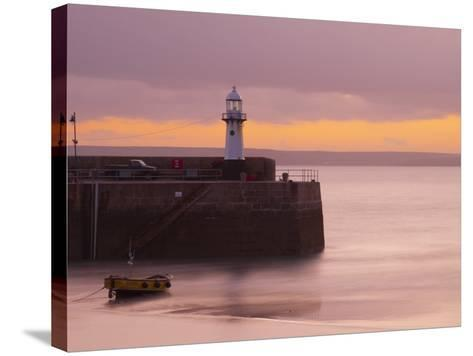 England, Cornwall, St Ives Harbour, UK-Alan Copson-Stretched Canvas Print