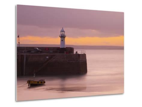 England, Cornwall, St Ives Harbour, UK-Alan Copson-Metal Print
