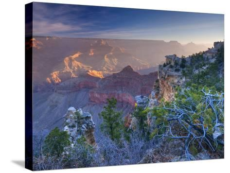 Arizona, Grand Canyon, from Mather Point, USA-Alan Copson-Stretched Canvas Print