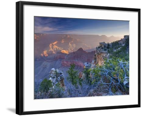 Arizona, Grand Canyon, from Mather Point, USA-Alan Copson-Framed Art Print