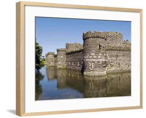 Wales, Anglesey, Beaumaris Castle Is One of Iron Ring of Castles Build by Edward I-John Warburton-lee-Framed Art Print