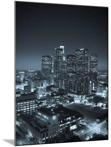 California, Los Angeles, Skyline of Downtown Los Angeles, USA-Michele Falzone-Mounted Photographic Print