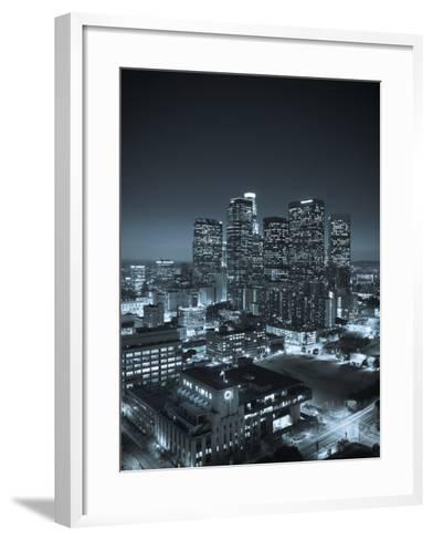 California, Los Angeles, Skyline of Downtown Los Angeles, USA-Michele Falzone-Framed Art Print