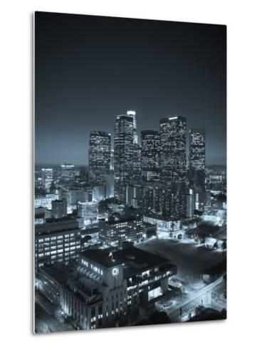 California, Los Angeles, Skyline of Downtown Los Angeles, USA-Michele Falzone-Metal Print