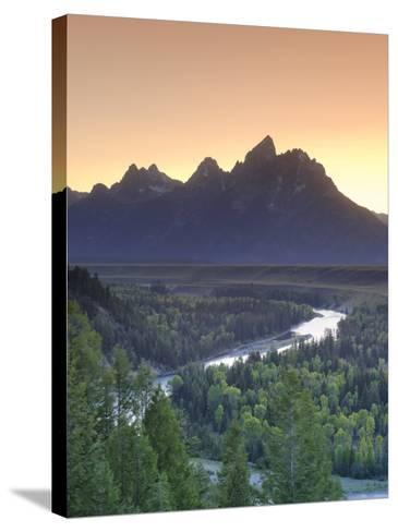Snake River Overlook and Teton Mountain Range, Grand Teton National Park, Wyoming, USA-Michele Falzone-Stretched Canvas Print