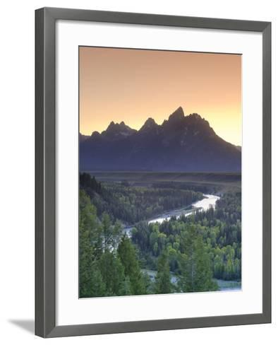 Snake River Overlook and Teton Mountain Range, Grand Teton National Park, Wyoming, USA-Michele Falzone-Framed Art Print