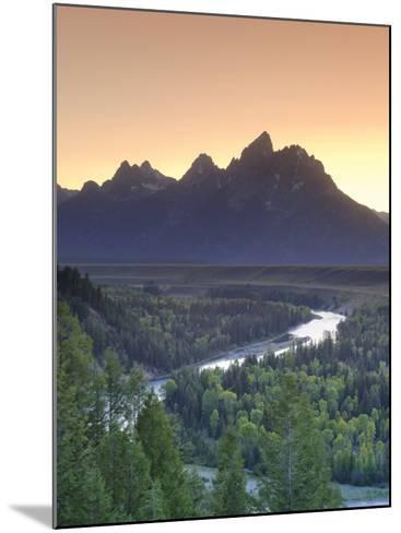 Snake River Overlook and Teton Mountain Range, Grand Teton National Park, Wyoming, USA-Michele Falzone-Mounted Photographic Print